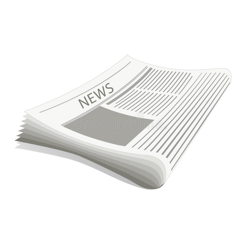 газета иллюстрация вектора