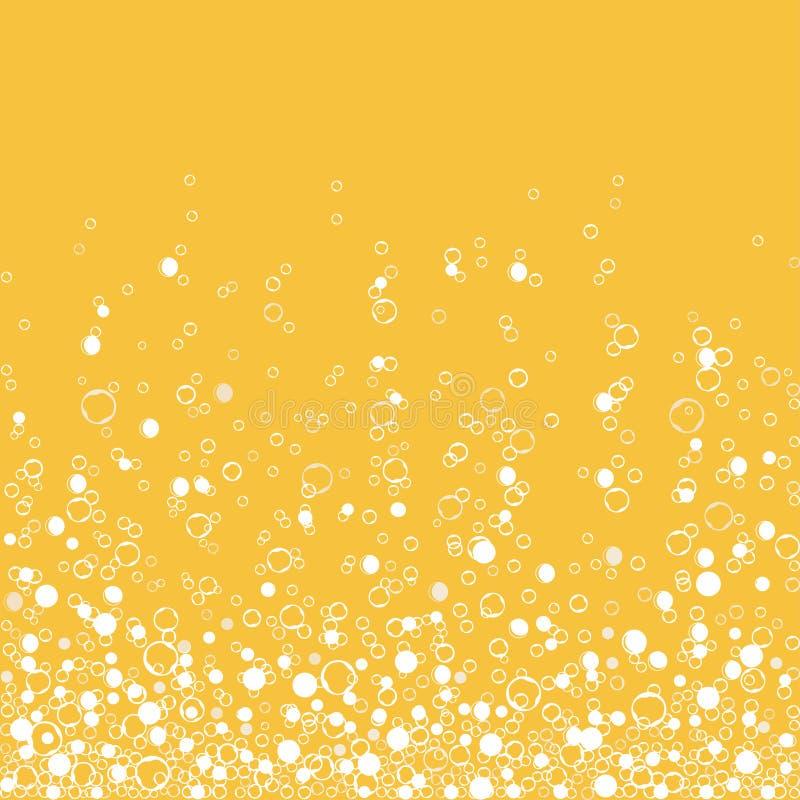 Газированный напиток шампанского изолированный на белой предпосылке Воздушные пузыри r бесплатная иллюстрация