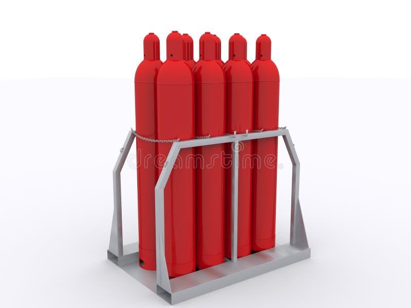 Газовые баллоны на паллете бесплатная иллюстрация