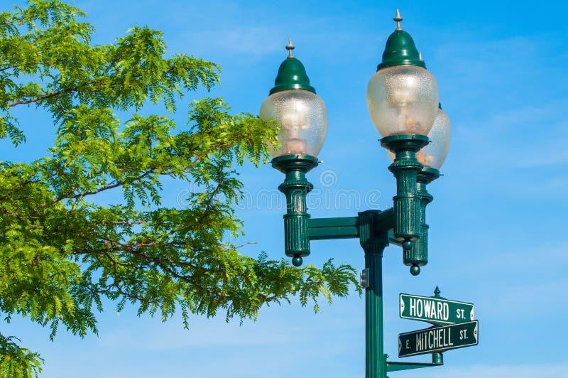 Газовые освещения Petoskey стоковое фото