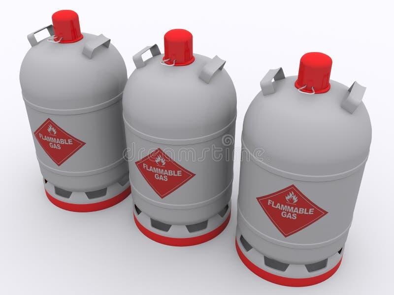 Газовый баллон иллюстрация штока