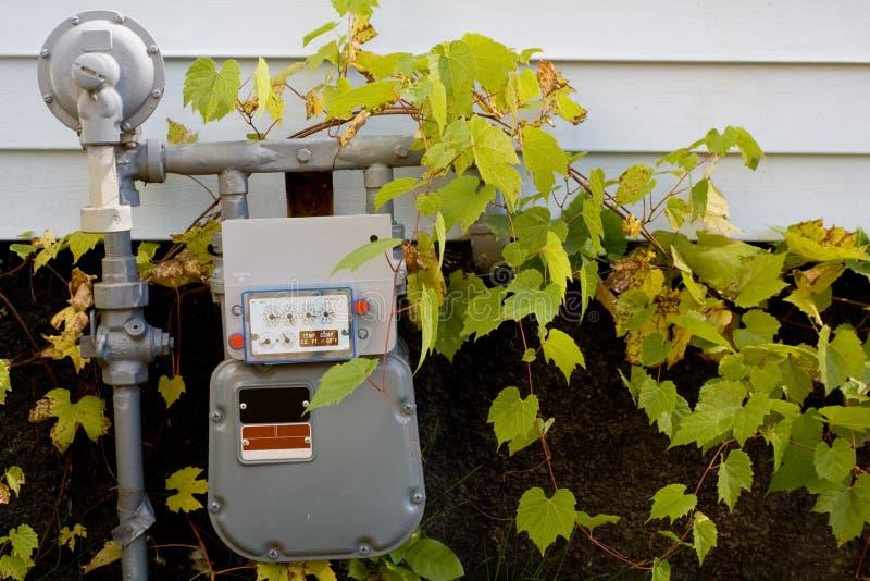 газовый счетчик естественный стоковое фото rf