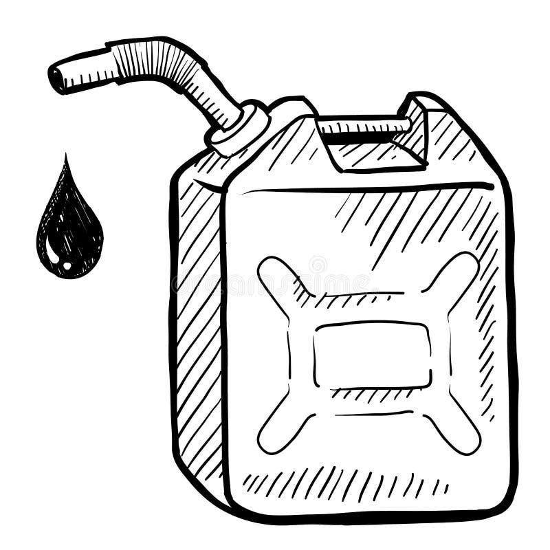 Газолин или нефть могут сделать эскиз к иллюстрация штока