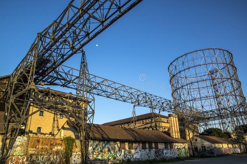 Газомеритель, Рим стоковые фотографии rf