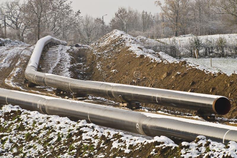 газопровод конструкции вниз стоковая фотография rf