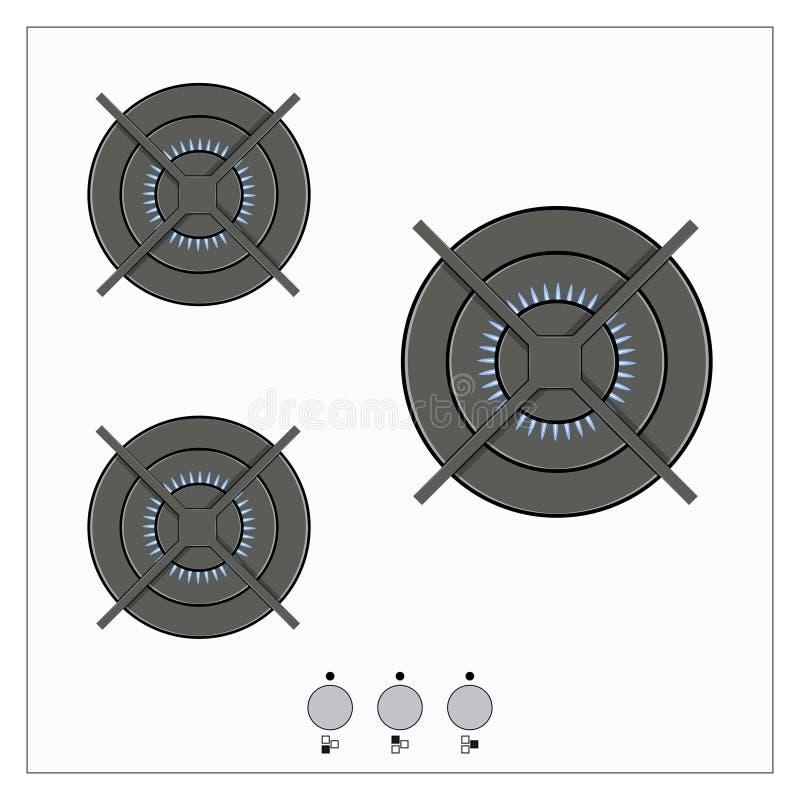Газосжигательный от газовой плиты кухни бесплатная иллюстрация