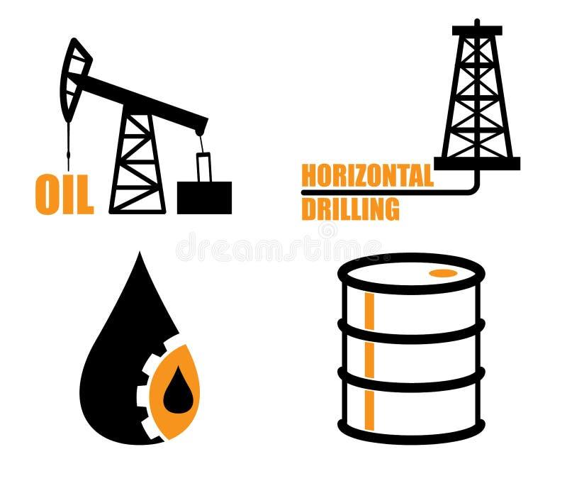 Газ значков индустрии иллюстрация штока