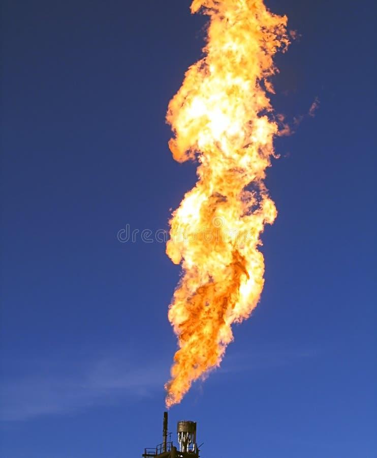 газ пирофакела стоковое изображение rf