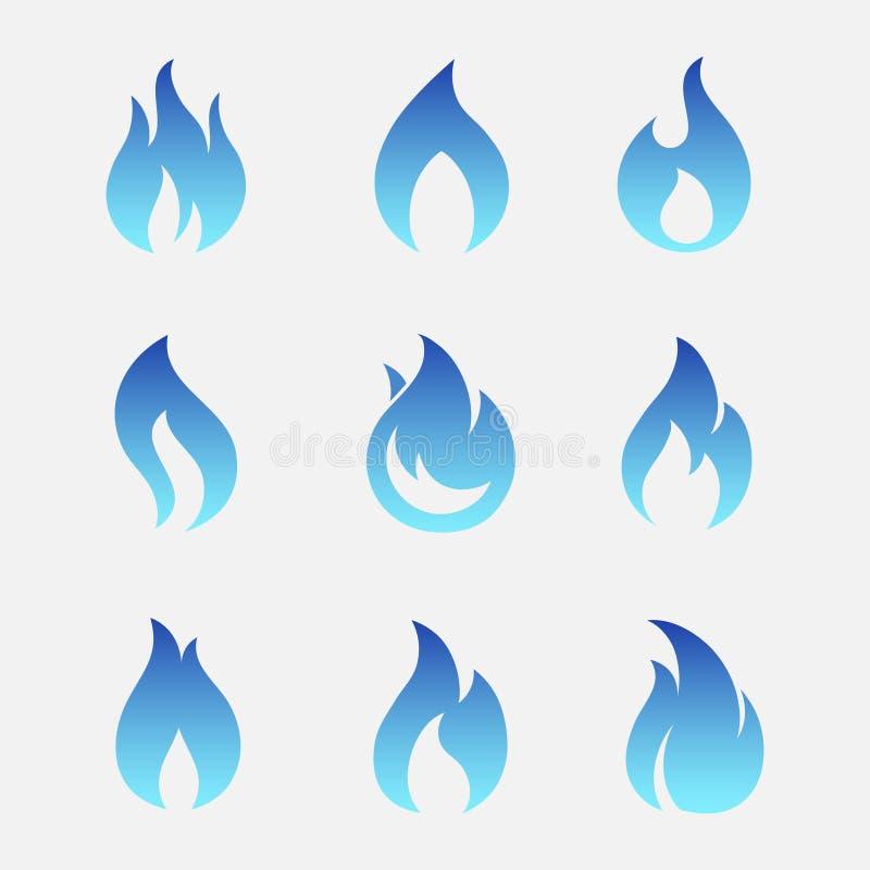 Газ пылает значки вектора иллюстрация штока