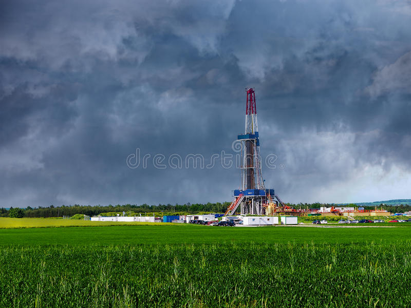 Газ сланца стоковые фотографии rf