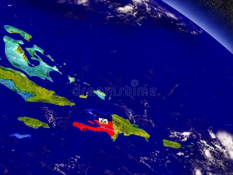Download Гаити с врезанным флагом на земле Иллюстрация штока - иллюстрации насчитывающей америка, республика: 81804400