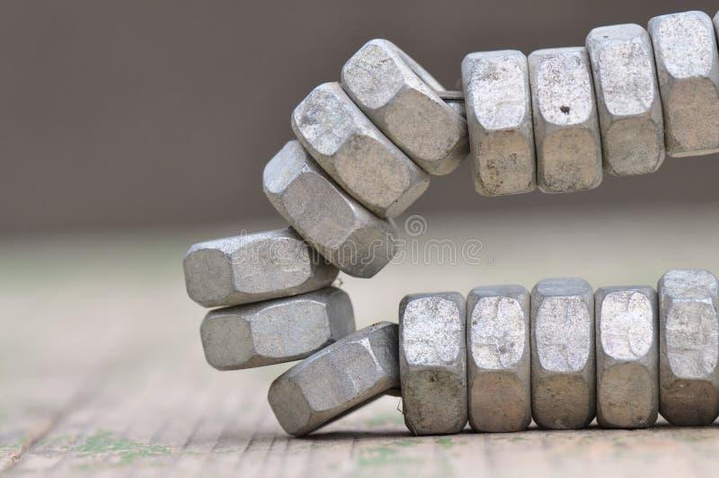 Гайка металла стоковые изображения rf