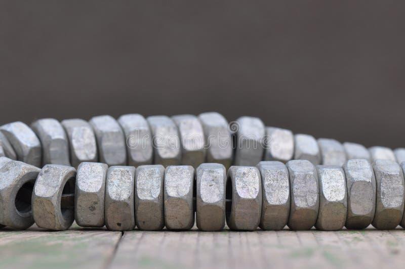 Гайка металла стоковое изображение rf