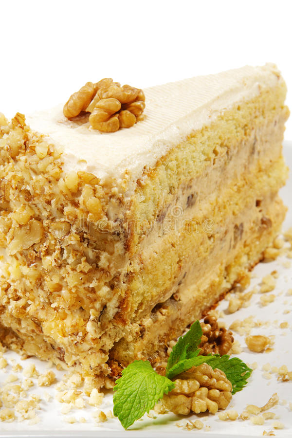 гайки десерта cheesecake стоковое изображение rf