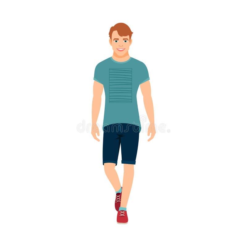 Гай в одеждах лета бесплатная иллюстрация