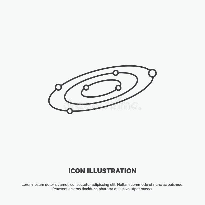 Галактика, астрономия, планеты, система, значок вселенной r иллюстрация штока