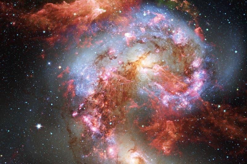 Галактики, звезды и межзвёздные облака во внушительном изображении космоса бесплатная иллюстрация