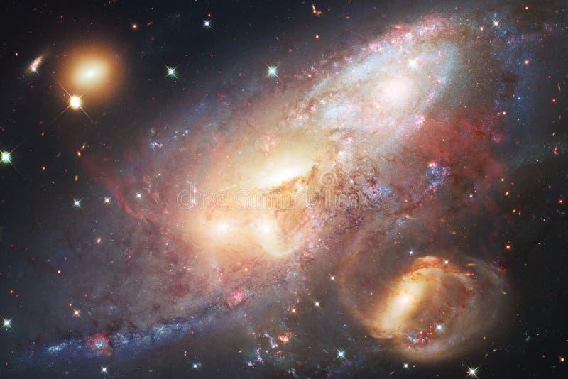 Галактики, звезды и межзвёздные облака во внушительном изображении космоса иллюстрация штока