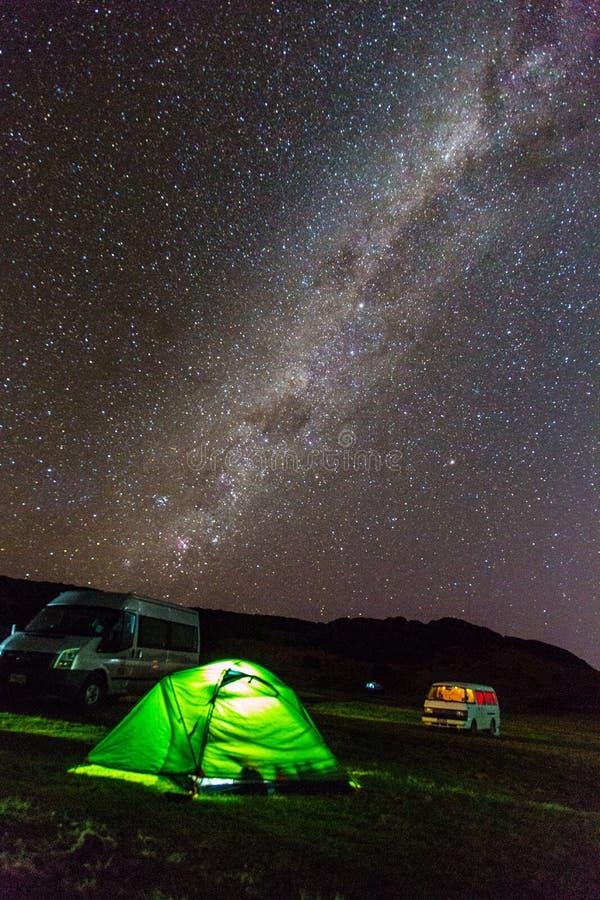 Галактический центр с Марсом стоковая фотография