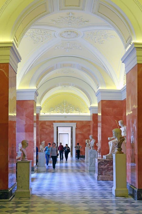 Галерея изображений правителей Рима в зале Augustus стоковое изображение rf