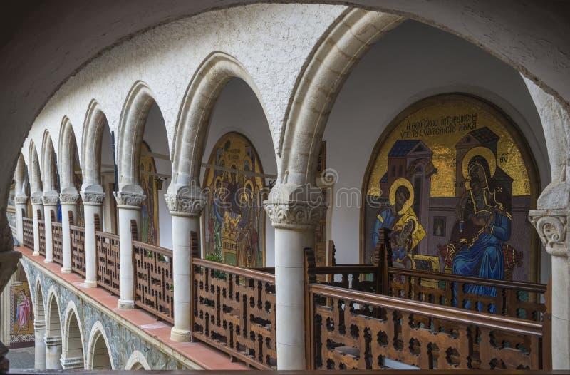 Галерея монастыря Kykkos стоковые фото