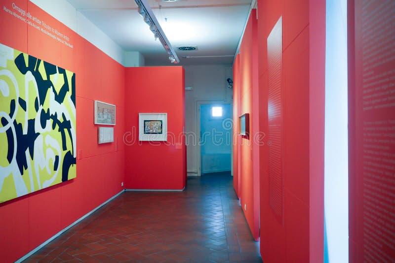 Галерея современного и современного искусства в Риме, Италии стоковые фото