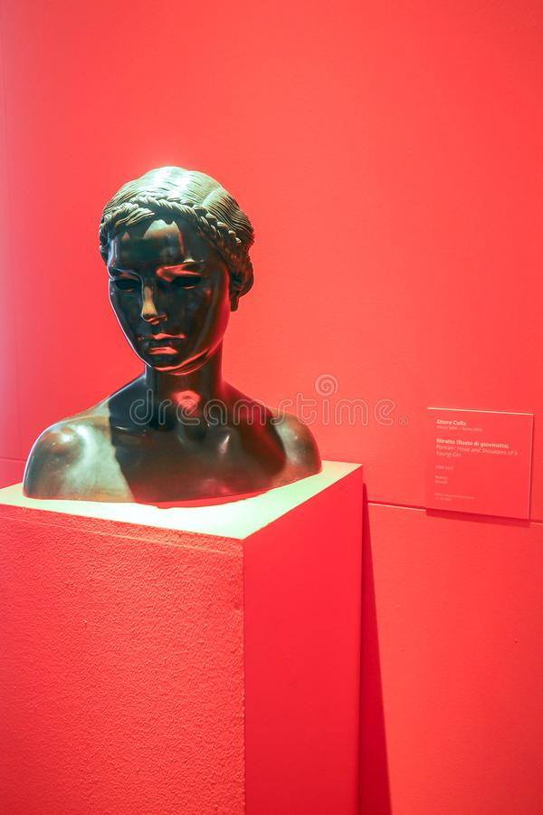 Галерея современного и современного искусства в Риме, Италии стоковая фотография rf