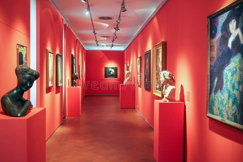 Галерея современного и современного искусства в Риме, Италии стоковые фотографии rf