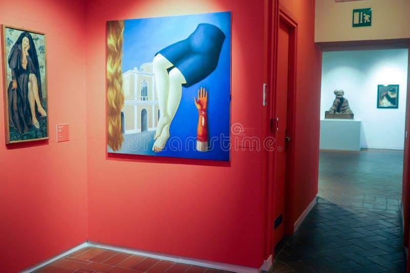 Галерея современного и современного искусства в Риме, Италии стоковые изображения rf