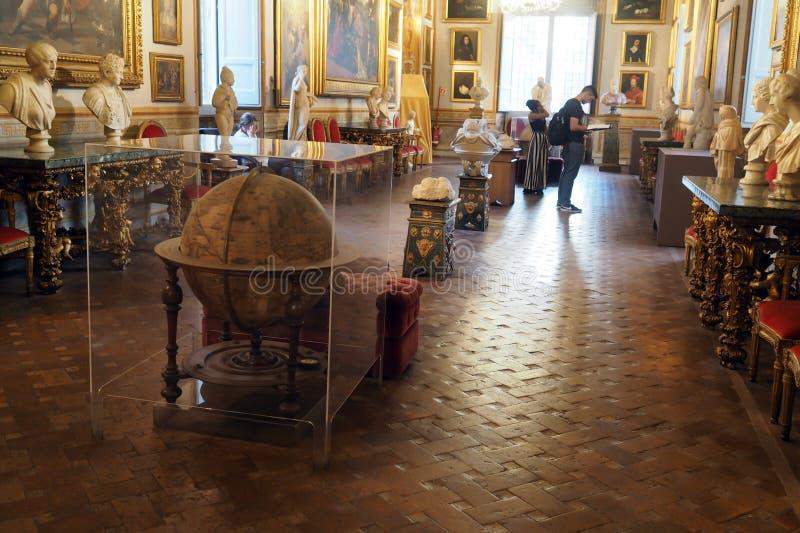 Галерея Спада во дворце Спада в Риме, Италия стоковое изображение