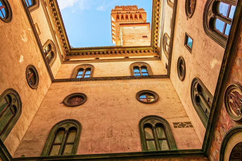 Галерея Palazzo Vecchio Uffizi во Флоренс стоковые изображения