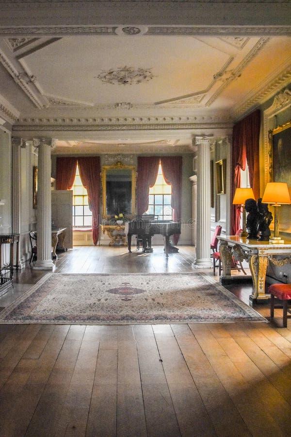 Галерея Wimpole Hall длинная стоковое изображение