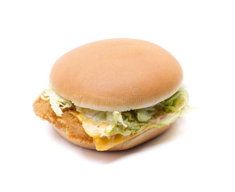 Гамбургер цыпленка стоковые изображения rf