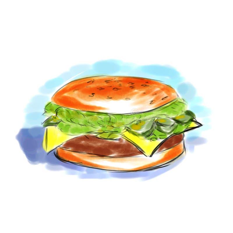 гамбургер иллюстрация штока