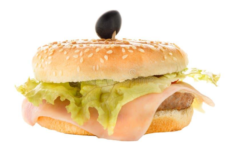 Download Гамбургер стоковое изображение. изображение насчитывающей мясо - 40577467
