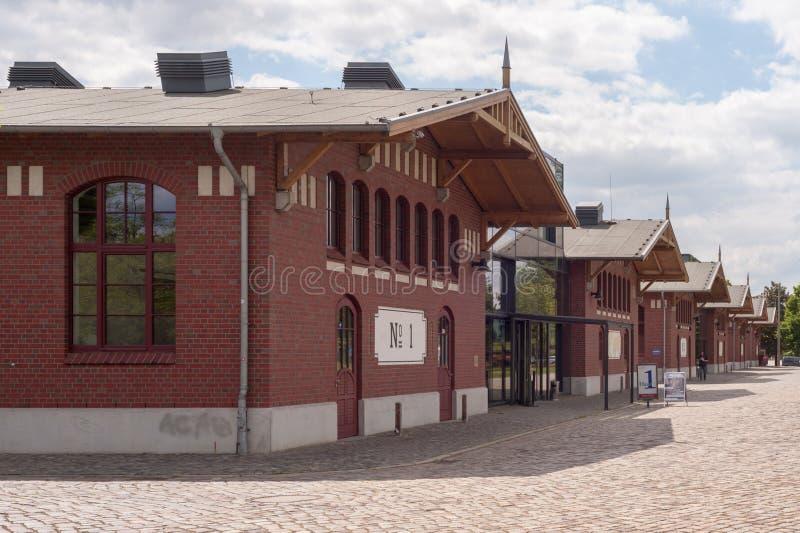 Гамбург, Германия - 7-ое июня 2015: Залы музея BallinStadt эмиграции в Гамбурге, Германии стоковая фотография