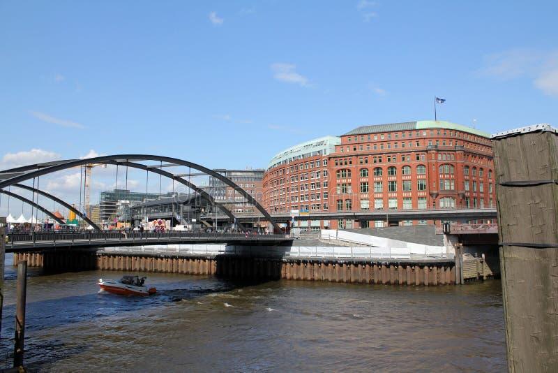 Гамбург, Baumwallhaus и Slomanhaus стоковое фото