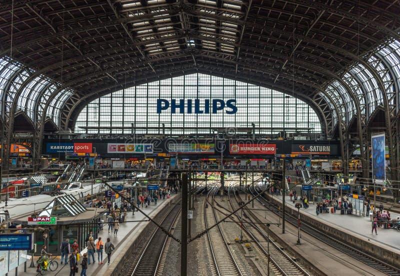 Гамбург Hauptbahnhof, Гамбург Германия стоковое фото rf