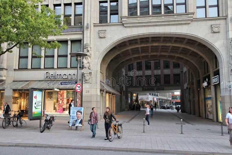 Гамбург Rathausmarkt стоковая фотография rf