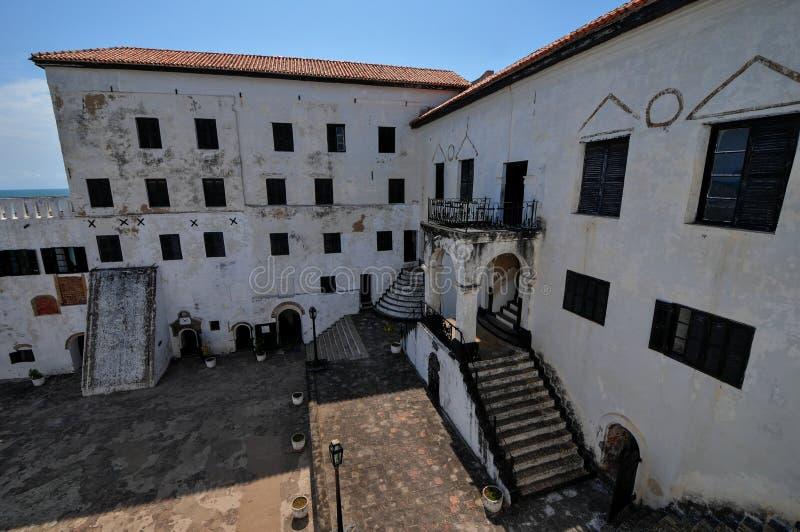 Гана: Место всемирного наследия замка Elmina, история рабства стоковая фотография