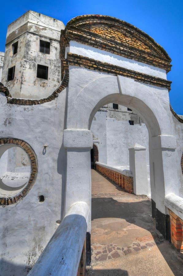 Гана: Место всемирного наследия замка Elmina, история рабства стоковые фото
