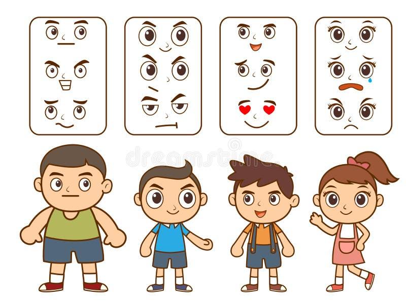 Гангстер мальчика и девушки иллюстрация штока