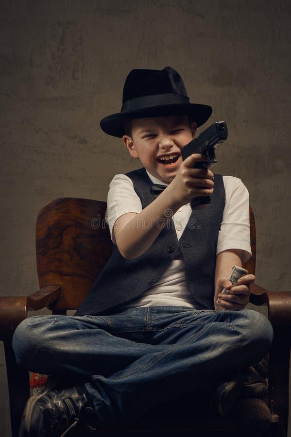 Гангстер мальчика стоковая фотография rf