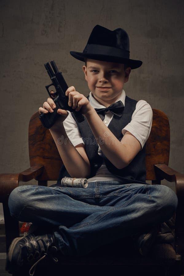 Гангстер мальчика стоковая фотография