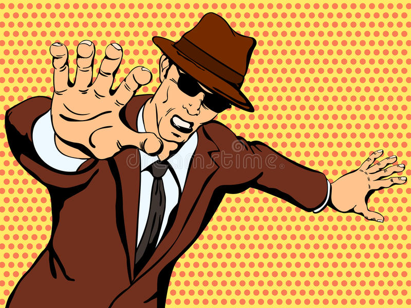Гангстер показывает агрессию бесплатная иллюстрация