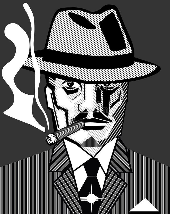 гангстер chicago бесплатная иллюстрация