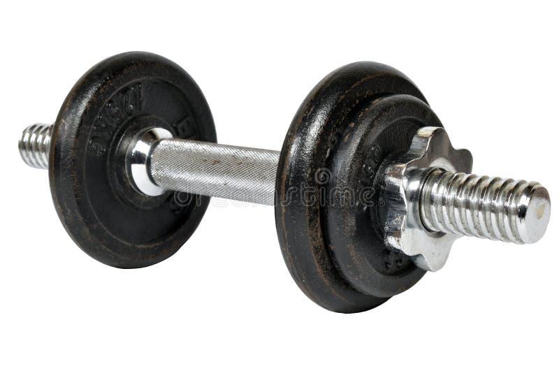 Гантели спортзала Спортзал весов Тощий, вырез стоковые фотографии rf