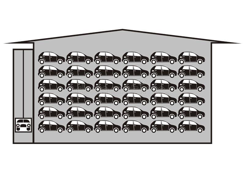 Гараж этажа иллюстрация штока