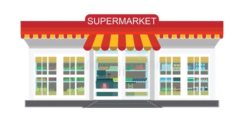 Гастроном супермаркета иллюстрация штока