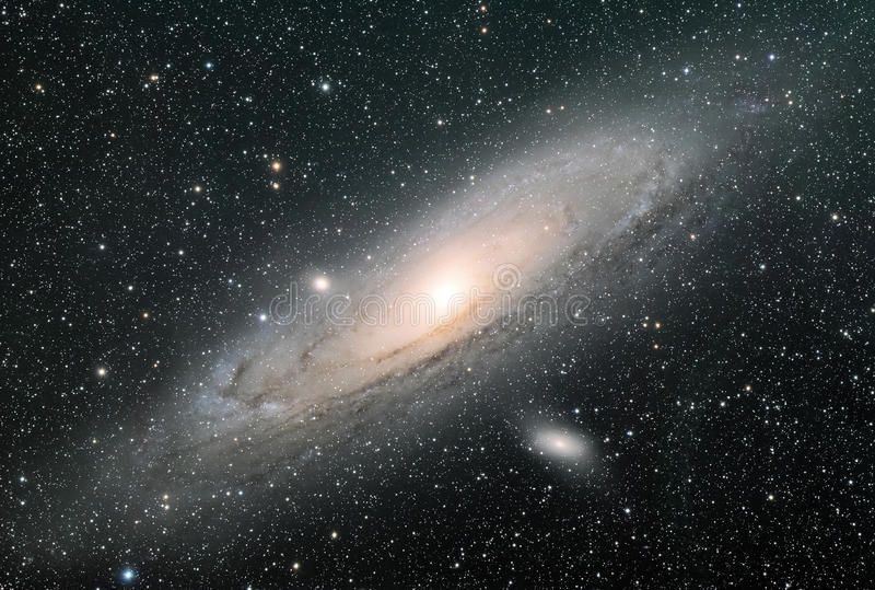 Галактика Андромеды стоковые изображения rf